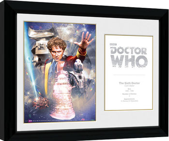 Doctor Who - 6th Doctor Colin Baker Kehystetty juliste