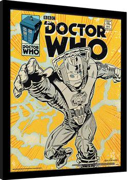 Kehystetty juliste Doctor Who - Cyberman Comic
