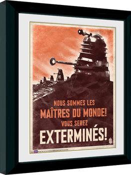 Kehystetty juliste Doctor Who - Daleks
