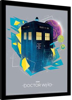 Doctor Who - Geometric Tardis Kehystetty juliste