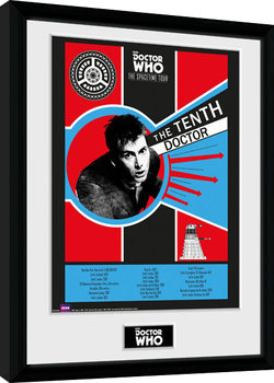 Doctor Who - Spacetime Tour 10th Doctor Kehystetty juliste