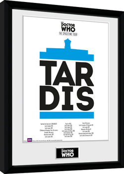 Doctor Who - Spacetime Tour Tardis Kehystetty juliste