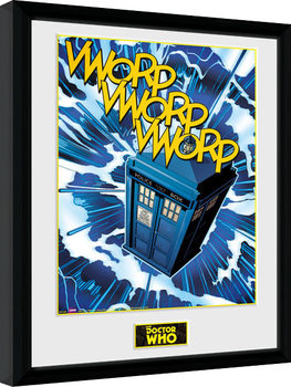 Doctor Who - Tardis Comic Kehystetty juliste