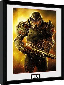 Doom - Marine kehystetty lasitettu juliste