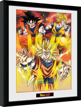 Kehystetty juliste Dragon Ball Z - 3 Gokus