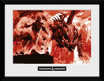Dungeons & Dragons - Red Dragon Kehystetty juliste