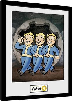 Kehystetty juliste Fallout 76 - Vault Boys