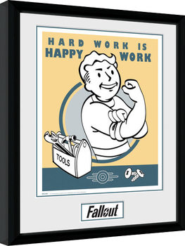 Fallout - Hard Work Kehystetty juliste