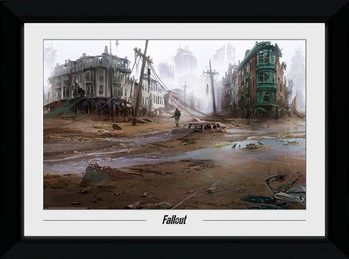 Kehystetty juliste Fallout - North End