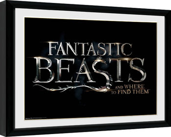 Kehystetty juliste Fantastic Beasts - Logo
