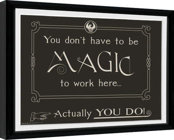 Fantastic Beasts - Magic Kehystetty juliste