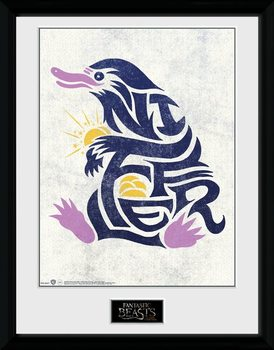Fantastic Beasts - Niffler Graphic Symbol Kehystetty juliste