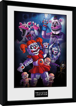 Kehystetty juliste Five Nights At Freddy's - Sister Location Group