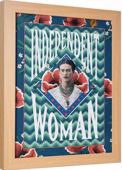 Kehystetty juliste Frida Kahlo - Independent Woman