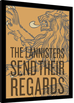 Kehystetty juliste Game of Thrones - The Lannisters Send Their Regards