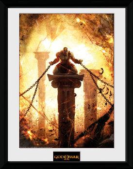 God of War - Kratos Chained kehystetty lasitettu juliste
