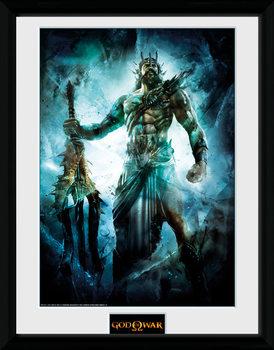 God of War - Poseidon kehystetty lasitettu juliste