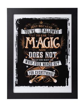 Kehystetty juliste Harry Potter - Allowed Magic