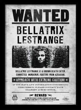 Harry Potter - Bellatrix Wanted Kehystetty juliste