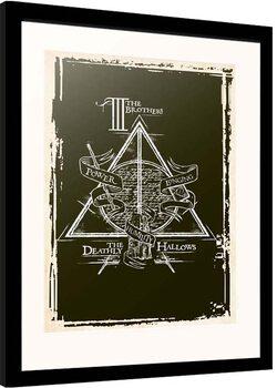 Kehystetty juliste Harry Potter - Deathly Hallows Symbol