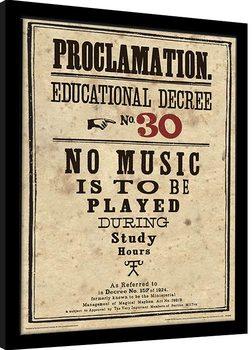 Kehystetty juliste Harry Potter - Educational Decree No. 30