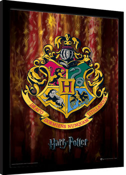 Harry Potter - Hogwarts Crest Kehystetty juliste