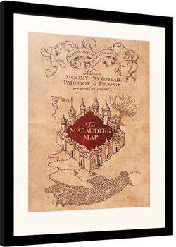 Kehystetty juliste Harry Potter - Marauder's Map