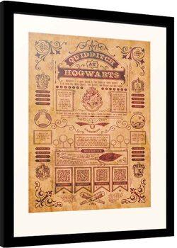 Kehystetty juliste Harry Potter - Quidditch at Hogwarts