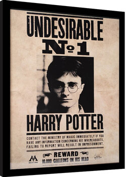 Kehystetty juliste Harry Potter - Undesirable N.1