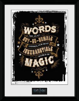 Harry Potter - Words kehystetty lasitettu juliste