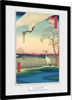 Kehystetty juliste Hiroshige - Minowa, Kanasugi at Mikawashima