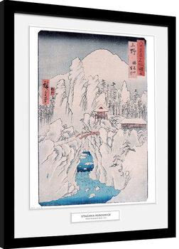 Hiroshige - Mount Haruna In Snow Kehystetty juliste