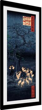 Kehystetty juliste Hiroshige - New Years Eve Foxfire