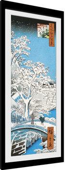 Kehystetty juliste Hiroshige - The Drum Bridge