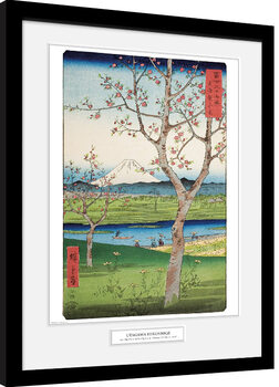 Hiroshige - The Outskirts of Koshigaya Kehystetty juliste