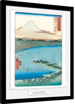 Kehystetty juliste Hiroshige - The Pine Beach At Miho