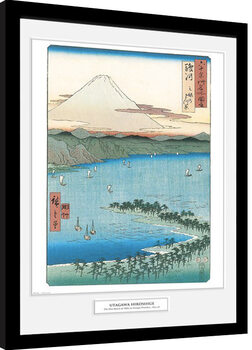 Hiroshige - The Pine Beach At Miho Kehystetty juliste
