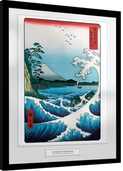 Hiroshige - The Sea At Satta Kehystetty juliste