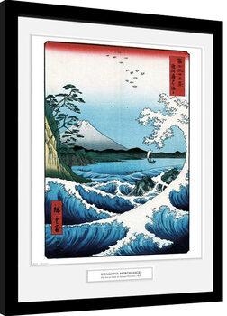 Kehystetty juliste Hiroshige - The Sea At Satta