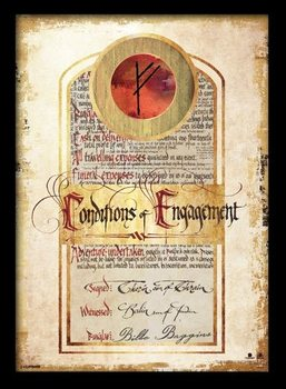 HOBBIT - Conditions of engagement Kehystetty juliste