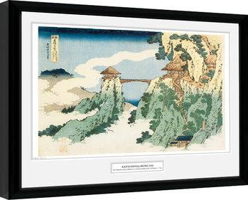 Kehystetty juliste Hokusai - The Hanging Cloud Bridge