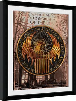 Ihmeotukset ja niiden olinpaikat - Magical Congress Kehystetty juliste