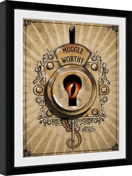 Ihmeotukset ja niiden olinpaikat - Muggle Worthy Kehystetty juliste