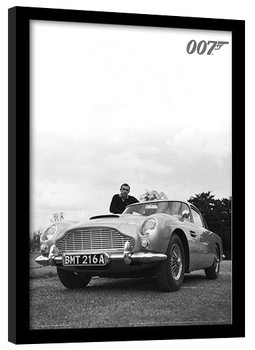 JAMES BOND 007 - connery b+w Kehystetty juliste