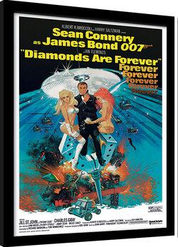Kehystetty juliste James Bond - Diamonds are Forever 2