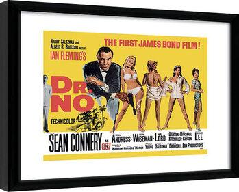 Kehystetty juliste James Bond - Doctor No Yellow