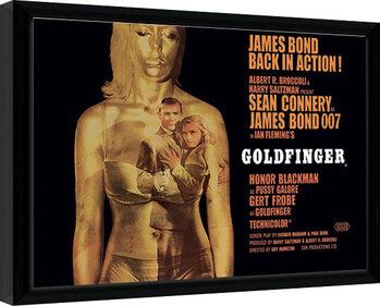 Kehystetty juliste James Bond - Goldfinger - Projection