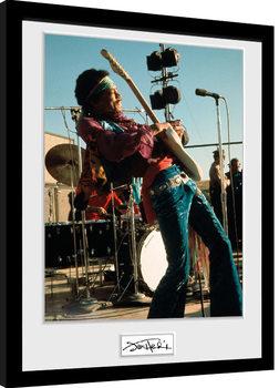 Jimi Hendrix - Live Kehystetty juliste