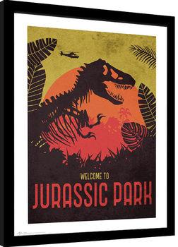 Jurassic Park - Silhouette Kehystetty juliste