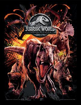 Jurassic World: Kaatunut Valtakunta - Montage Kehystetty juliste